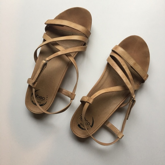 b7095d50cf315f Abeo Shoes - ABEO Samantha tan sandals with neutral footbed